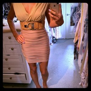 Champagne/Nude super sexy BEBE dress